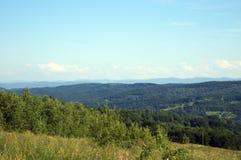 喀尔巴阡山脉的山的视图 库存图片