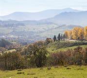 喀尔巴阡山脉的山顶视图 乌克兰 库存照片