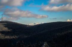 喀尔巴阡山脉的山 免版税库存图片