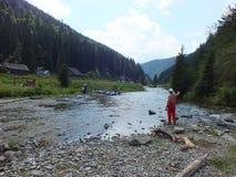 喀尔巴阡山脉的山 免版税图库摄影