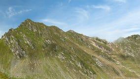 喀尔巴阡山脉的庭院timelapse,在Fagaras山拍的照片,特兰西瓦尼亚罗马尼亚 股票视频
