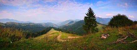 喀尔巴阡山脉的早晨 图库摄影