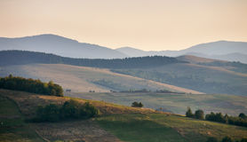 喀尔巴阡山脉的晚上 库存照片