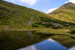 喀尔巴阡山脉的湖Nesamovyte 库存图片