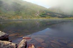 喀尔巴阡山脉的湖Nesamovyte II 库存图片