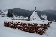 喀尔巴阡山脉的生活 免版税库存图片