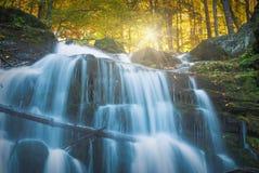 喀尔巴阡山脉的秋天watrefall Shipot_2 图库摄影