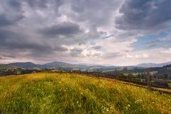 喀尔巴阡山脉的草甸 库存照片
