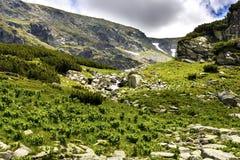 从喀尔巴阡山脉的风景 库存图片