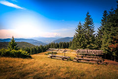 喀尔巴阡山脉,乌克兰,欧洲 喀尔巴阡山脉,乌克兰,欧洲 库存图片