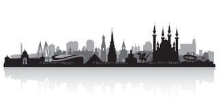 喀山俄罗斯市地平线传染媒介剪影 皇族释放例证
