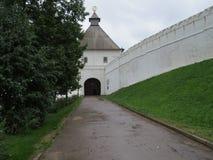 喀山克里姆林宫喀山,俄罗斯的看法 免版税库存照片