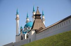 喀山克里姆林宫墙壁 库存照片