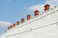 喀山克里姆林宫墙壁  免版税图库摄影