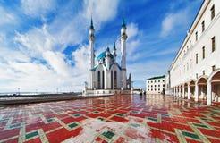 喀山克里姆林宫清真寺qolsharif 免版税库存图片