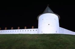 喀山克里姆林宫的墙壁 库存图片