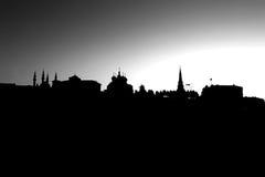 喀山克里姆林宫的教会和塔 库存照片