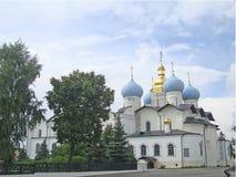喀山克里姆林宫的通告大教堂 库存照片