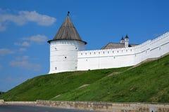 喀山克里姆林宫,俄国的无名的来回塔 免版税库存图片