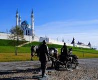 喀山克里姆林宫,喀山Rusia 库存图片