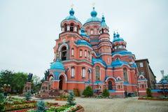 喀山大教堂伊尔库次克 免版税库存图片