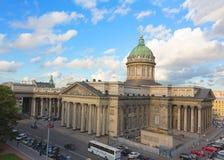 喀山大教堂在圣彼得堡,俄罗斯 免版税库存图片