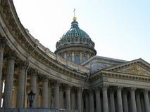 喀山大教堂在圣彼得堡 俄国 免版税库存图片