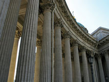 喀山大教堂在圣彼得堡 俄国 免版税库存照片