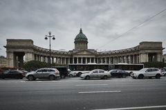喀山大教堂在圣彼德堡 免版税图库摄影