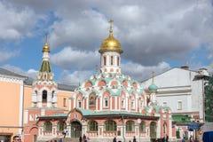 喀山大教堂在莫斯科,俄罗斯 库存图片