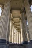 喀山大教堂的专栏 图库摄影