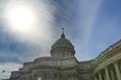 喀山大教堂的圆顶 免版税库存图片