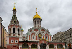 喀山大教堂看法  免版税图库摄影