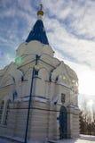 喀山,俄罗斯, 2017年2月9日, Zilant修道院-最旧的正统大厦在城市-冬天俄国风景- 免版税库存照片