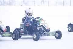 喀山,俄罗斯- 2017年12月23日:冬天季节的开头 库存图片