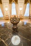 喀山,俄罗斯- 2017年1月16日,香港大会堂-豪华和美好的旅游地方-古色古香的辅助部件 免版税库存照片