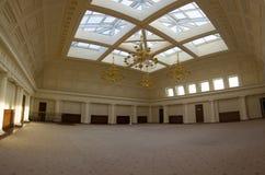 喀山,俄罗斯- 2017年1月16日,香港大会堂-豪华和美好的旅游地方-有玻璃天花板的室 库存图片