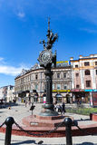 喀山,俄罗斯- 2016年5月13日:古铜色巨大装饰混合涂料 免版税库存照片