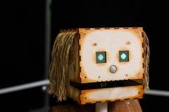 喀山,鞑靼斯坦共和国共和国,俄罗斯- 3月12 :机器人头在机器人`陈列`城市的商店2018年在喀山,俄罗斯 库存照片