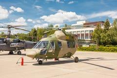 喀山Ansat俄国轻的多用途直升机 免版税库存图片