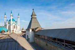 喀山kul清真寺sharif 俄国 免版税库存照片