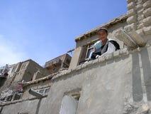 喀布尔孩子 免版税图库摄影