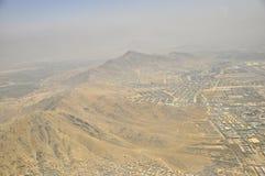 喀布尔山,阿富汗鸟瞰图 库存图片