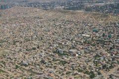 喀布尔市视图风景,阿富汗 免版税图库摄影