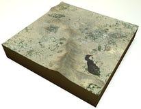 喀布尔阿富汗,镇,卫星看法,地形部分 免版税图库摄影