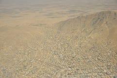 喀布尔,阿富汗鸟瞰图 图库摄影