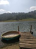 喀拉拉旅游业WAGAMON小船 库存图片