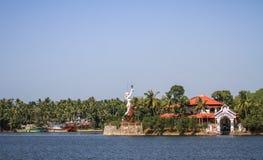 喀拉拉死水,从Alleppey的奎隆,喀拉拉,印度 库存照片
