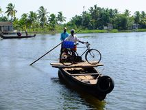 喀拉拉死水,印度 图库摄影