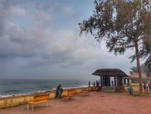 喀拉拉海滩 库存照片